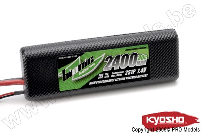 BIONIC CAR 30C 2400MAH 2S1P 7,4V KYOSHO DEAN CONNECTOR BCS30-2400-0201D