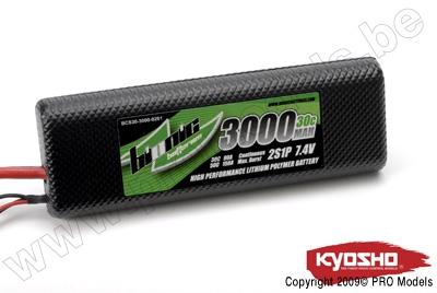 BIONIC CAR 30C 3000MAH 2S1P 7,4V KYOSHO DEAN CONNECTOR BCS30-3000-0201D