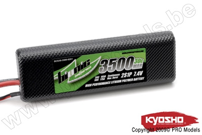 BIONIC CAR 30C 3500MAH 2S1P 7,4V KYOSHO DEAN CONNECTOR BCS30-3500-0201D