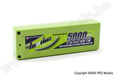 BIONIC CAR 40C 5000MAH 7,4V 4MM GOLD CONNECTOR BCS40-5000-0201