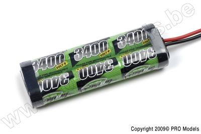 BIONIC NI-MH VOLT+ 3400 SC RACINGPACK 7.2V TAMIYA BNH-3400-SC6T