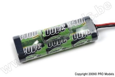 BIONIC NI-MH VOLT+ 3400 SC RACINGPACK 8.4V TRAXXAS BULB BNH-3400-SC7TRB