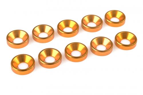 Team Corally - Aluminium Unterlegscheibe - für M5 Senkkopfschrauben - AD=12mm - Gold - 10 St C-31220