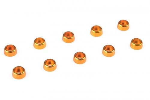 Team Corally - Aluminium Unterlegscheibe - für M2 Zylinderkopfschrauben - AD=6mm - Gold - 10 St C-31250