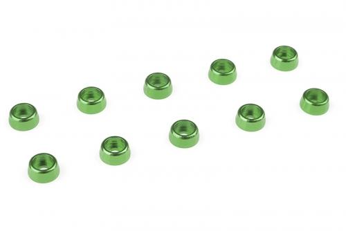 Team Corally - Aluminium Unterlegscheibe - für M2 Zylinderkopfschrauben - AD=6mm - Grün - 10 St C-31251