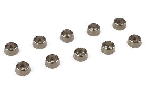 Team Corally - Aluminium Unterlegscheibe - für M2.5 Zylinderkopfschrauben - AD=7mm - Gun Metal - 10 St C-31263