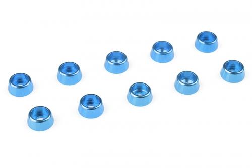 Team Corally - Aluminium Unterlegscheibe - für M2.5 Zylinderkopfschrauben - AD=7mm - Blau - 10 St C-31264