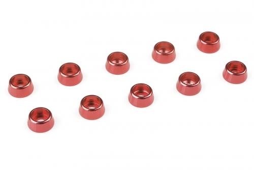 Team Corally - Aluminium Unterlegscheibe - für M2.5 Zylinderkopfschrauben - AD=7mm - Rot - 10 St C-31265
