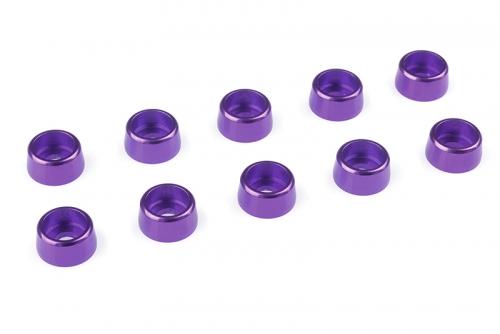 Team Corally - Aluminium Unterlegscheibe - für M3 Zylinderkopfschrauben - AD=8mm - Violet - 10 St C-31272