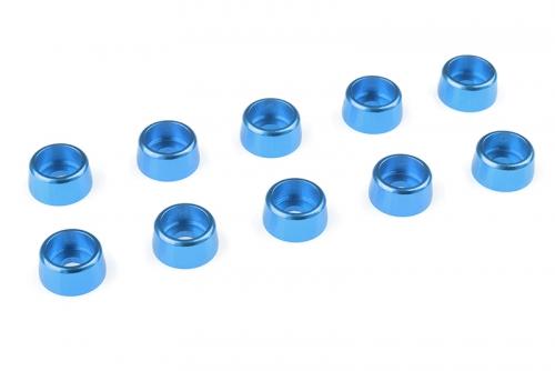 Team Corally - Aluminium Unterlegscheibe - für M3 Zylinderkopfschrauben - AD=8mm - Blau - 10 St C-31274