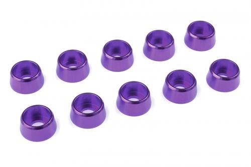 Team Corally - Aluminium Unterlegscheibe - für M4 Zylinderkopfschrauben - AD=10mm - Violet - 10 St C-31282