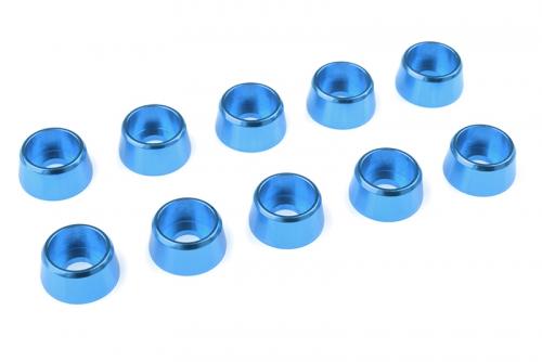 Team Corally - Aluminium Unterlegscheibe - für M4 Zylinderkopfschrauben - AD=10mm - Blau - 10 St C-31284