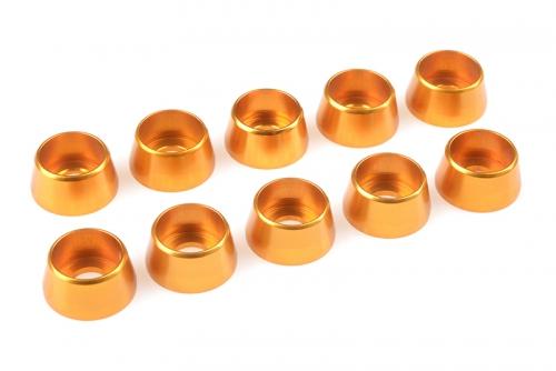 Team Corally - Aluminium Unterlegscheibe - für M5 Zylinderkopfschrauben - AD=12mm - Gold - 10 St C-31290