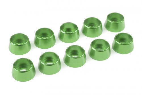 Team Corally - Aluminium Unterlegscheibe - für M5 Zylinderkopfschrauben - AD=12mm - Grün - 10 St C-31291