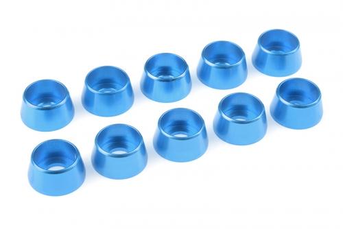 Team Corally - Aluminium Unterlegscheibe - für M5 Zylinderkopfschrauben - AD=12mm - Blau - 10 St C-31294