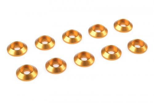 Team Corally - Aluminium Unterlegscheibe - for M3 Linsenkopfschrauben - AD=10mm - Gold - 10 St C-31300