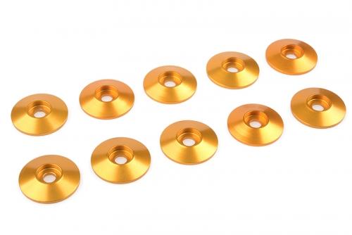 Team Corally - Aluminium Unterlegscheibe - for M3 Linsenkopfschrauben - AD=15mm - Gold - 10 St C-31310