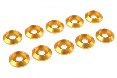 Team Corally - Aluminium Unterlegscheibe - for M4 Linsenkopfschrauben - AD=12mm - Gold - 10 St C-31320