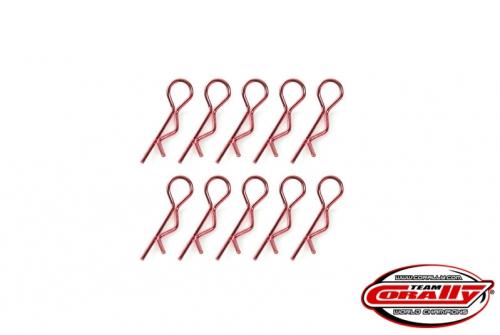 Team Corally - Karosserieklammern - 45° gebogen - Klein - Grün - 10 St C-35101