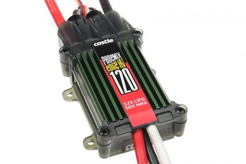 Castle - Phoenix Edge 120 HV - Hochleistungs Brushless Flug und Heli High Voltage Regler - Datenspeicher - Telemetrie fähig - Aux. Kabel - 6-12S - 12
