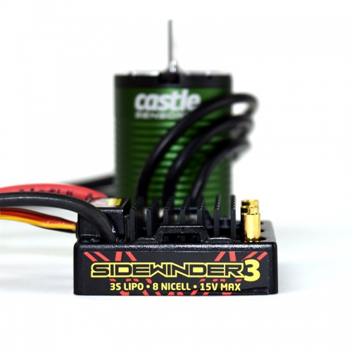 Castle - SV3 WATERPROOF 1:10TH 12V ESC 1406-7700 SENSORED COMBO CC-010-0115-08