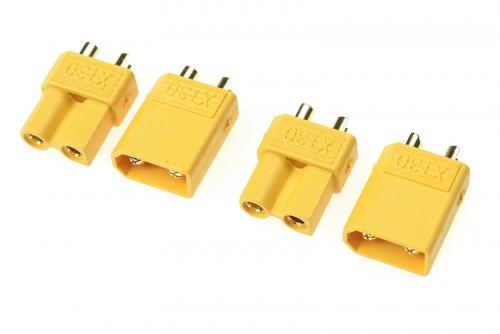 G-Force RC - Steckverbinder - XT-30 - Goldkontakten - Stecker + Buchse - 2 Paare GF-1030-001