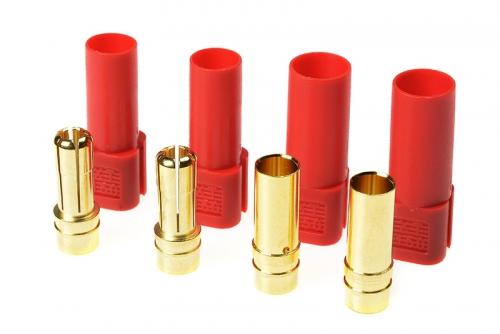G-Force RC - Steckverbinder - XT-150 - Goldkontakten - Stecker + Buchse - Rot - 2 Paare GF-1055-002
