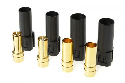 G-Force RC - Steckverbinder - XT-150 - Goldkontakten - Stecker + Buchse - Schwarz - 2 Paare GF-1055-003