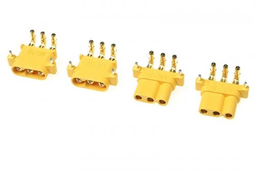 G-Force RC - Connector - MR-30PW 3-Polig - Goldkontakten - Stecker + Buchse - 2 Paare GF-1086-001