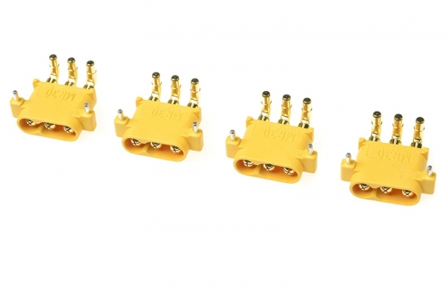 G-Force RC - Connector - MR-30PW 3-Polig - Goldkontakten - Stecker - 4 St GF-1086-002