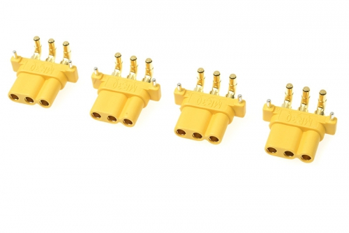 G-Force RC - Connector - MR-30PW 3-Polig - Goldkontakten - Buchse - 4 St GF-1086-003