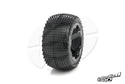 Medial Pro - Tyre set pre-mounted Viper 4.0,  White rims 17mm Hex, fits REVO + MAXX series MP-5720