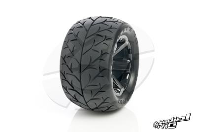 Medial Pro - Tyre set pre-mounted Velocity 4.0, White rims 17mm Hex, fits REVO + MAXX series MP-5740