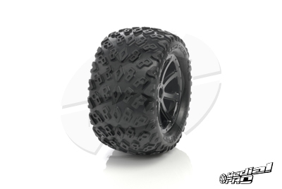 Medial Pro - Tyre set pre-mounted Dirt Crusher 4.0,  White rims 17mm Hex, fits SUMMIT, REVO + MAXX series MP-5800