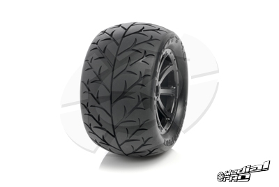 Medial Pro - Tyre set pre-mounted Velocity 4.0, White rims 17mm Hex, fits SUMMIT, REVO + MAXX series MP-5840