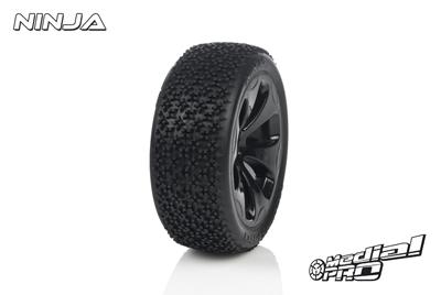 Medial Pro - Racing Reifen und Felgen verklebt - Ninja - M3 Soft - Schwarze Felgen - Vorder SLASH 2WD MP-6115-M3