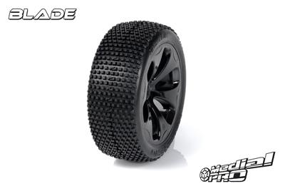 Medial Pro - Racing Reifen und Felgen verklebt - Blade - M4 Super Soft - Schwarze Felgen - Vorder SLASH 2WD MP-6135-M4