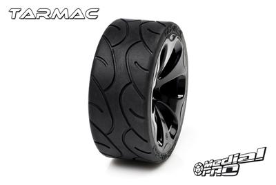 Medial Pro - Racing Reifen und Felgen verklebt - Tarmac - M4 Super Soft - Schwarze Felgen - Vorder SLASH 2WD MP-6185-M4