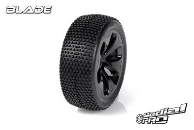 Medial Pro - Racing Reifen und Felgen verklebt - Blade - M3 Soft - Schwarze Felgen - Hinter + Vorder Slash 4WD, Hinter Slash 2WD MP-6335-M3