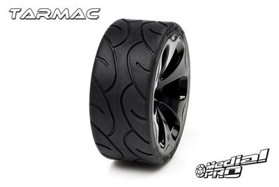 Medial Pro - Racing Reifen und Felgen verklebt - Tarmac - M4 Super Soft - Schwarze Felgen - Hinter + Vorder Slash 4WD, Hinter Slash 2WD MP-6385-M4