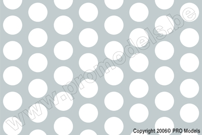 Oracover - Fun 1 (16mm Dots) White + Silver ( Length : Roll 10m , Width : 60cm ) OR-41-010-091-010