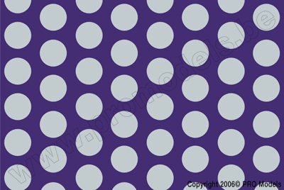 Oracover - Fun 1 (16mm Dots) Fluorescent Violet + Silver ( Length : Roll 10m , Width : 60cm ) OR-41-015-091-010