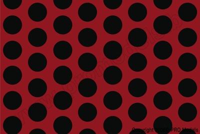 Oracover - Fun 1 (16mm Dots) Ferrari Red + Black ( Length : Roll 10m , Width : 60cm ) OR-41-023-071-010