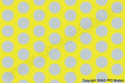 Oracover - Fun 1 (16mm Dots) Fluorescent Yellow + Silver ( Length : Roll 10m , Width : 60cm ) OR-41-031-091-010