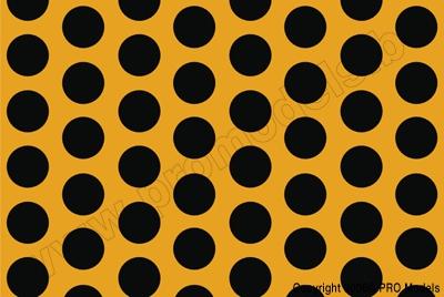Oracover - Fun 1 (16mm Dots) Cadmium Yellow + Black ( Length : Roll 10m , Width : 60cm ) OR-41-033-071-010
