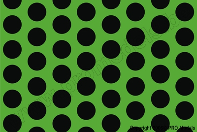Oracover - Fun 1 (16mm Dots) Fluorescent Green + Black ( Length : Roll 10m , Width : 60cm ) OR-41-041-071-010