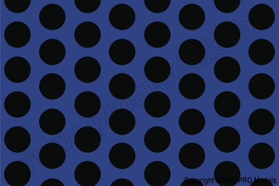 Oracover - Fun 1 (16mm Dots) Blue Fluorescent + Black ( Length : Roll 10m , Width : 60cm ) OR-41-051-071-010