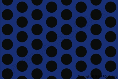 Oracover - Fun 1 (16mm Dots) Light Blue + Black ( Length : Roll 10m , Width : 60cm ) OR-41-053-071-010