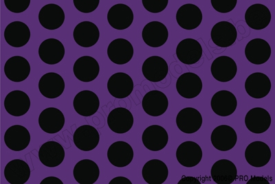 Oracover - Fun 1 (16mm Dots) Violet + Black ( Length : Roll 10m , Width : 60cm ) OR-41-054-071-010