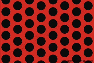 Oracover - Fun 1 (16mm Dots) Fluorescent Red/Orange + Black ( Length : Roll 10m , Width : 60cm ) OR-41-064-071-010